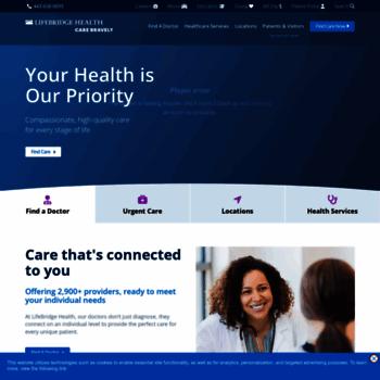lifebridgehealth org at WI  LifeBridge Health   Main