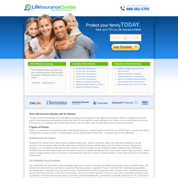 Lifeinsurancequotes.net thumbnail