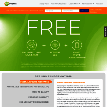 lifewireless com at WI  Apply Now Free Government Cell Phone