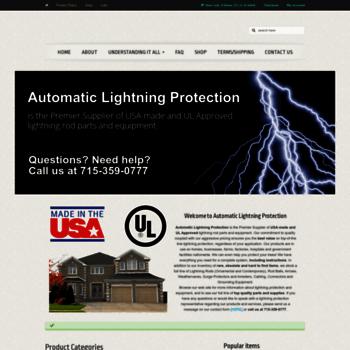 lightningrod com at WI  Lightning Rod Parts & Equipment | Automatic