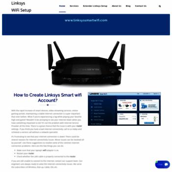 linksyswifisetup com at WI  Setup Linksys Router | Create