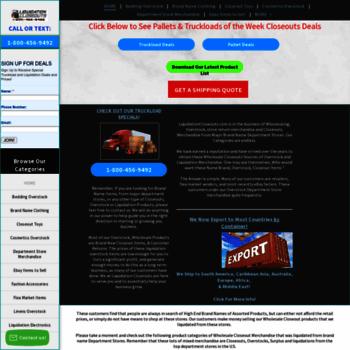 liquidationcloseouts com at WI  Liquidation, Stores return