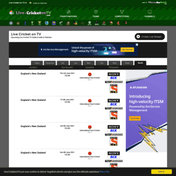 live-cricketontv com at WI  Live Cricket On TV in India & Pakistan