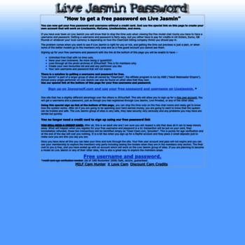 Livejasminpassword.com thumbnail