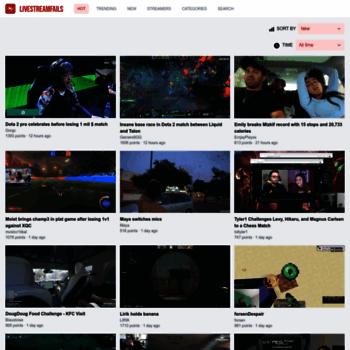 livestreamfails com at wi livestreamfails watch your favorite