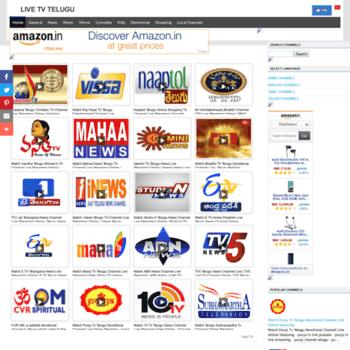 livetvtelugu com at WI  Live TV Telugu channels online streaming
