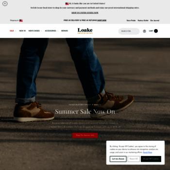 loake.co.uk at WI. Loake Shoemakers Fine English made