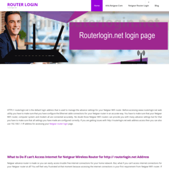 Login-routerlogin.net thumbnail
