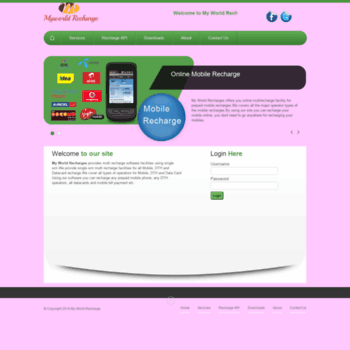 login myworldrecharges in at WI  My World Recharges | Home