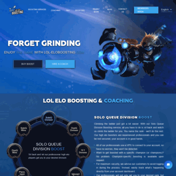 lol-eloboosting com at WI  Buy Elo Boost – Professional League of