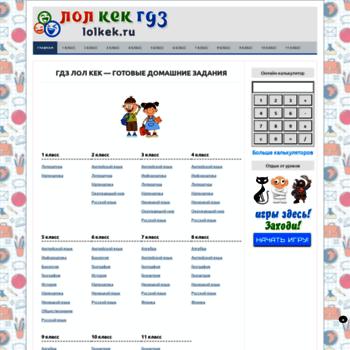 Веб сайт lolkek.ru