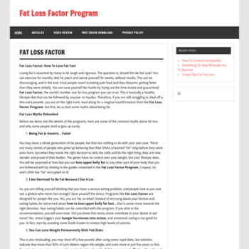 Loseupperbellyfat Com At Wi Fat Loss Factor Program Can You Lose