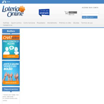 Loteriaonline.com.br thumbnail