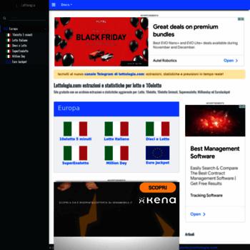Lottologiacom At Wi Estrazioni Statistiche E Analisi Per Il Gioco