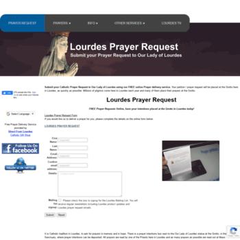 lourdesprayerrequest com at WI  LOURDES PRAYER REQUEST to