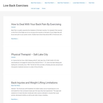 Lowbackexercises.org thumbnail