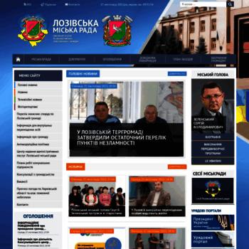 Бесплатный анализ сайта lozovarada.gov.ua