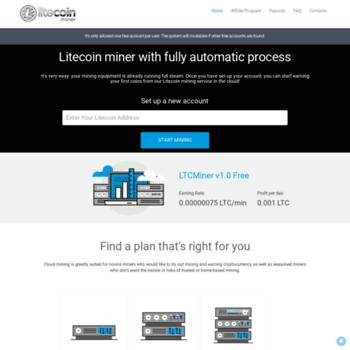 ltcminer us at WI  Litecoin Miner - Litecoin mining  Earn Litecoin