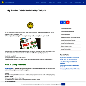 luckypatchers com at WI  Lucky Patcher Official Website By