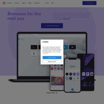 m operamini com at WI  Opera for Mobile Devices