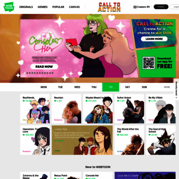 m webtoons com at WI  LINE WEBTOON - Global Digital Free
