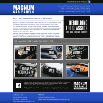 Magnumcarpanels.co.uk thumbnail