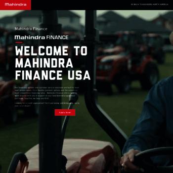 Mahindrafinanceusa.com thumbnail