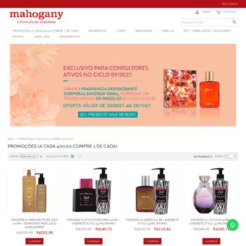 d10c21d9a mahogany-ba.com.br at WI. Cosméticos Mahogany Mahogany em Casa - A ...
