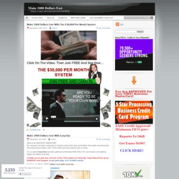 make1000dollarsfast net at WI  Make 1000 Dollars Fast