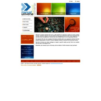 Manualuniversecom At Wi Repair Manuals Service Manuals