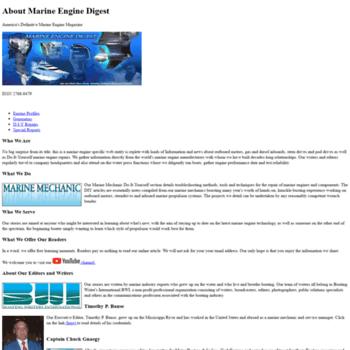 marineenginedigest com at WI  Marine Engine Digest   Engine Reviews