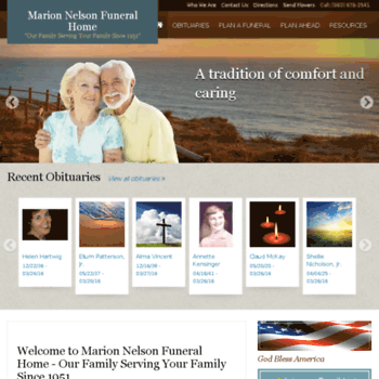 Marionnelsonfuneralhome.com thumbnail