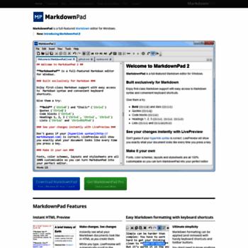 markdownpad com at WI  MarkdownPad - The Markdown Editor for Windows
