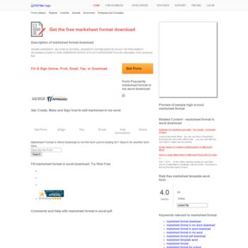marksheet-format pdffiller com at WI  Marksheet
