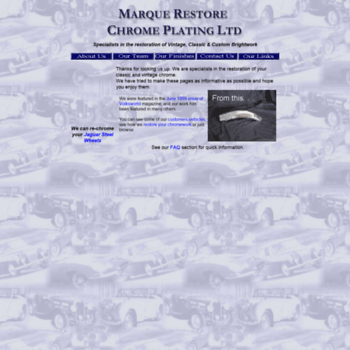 marquerestore co uk at WI  Chrome plating of classic car and bike