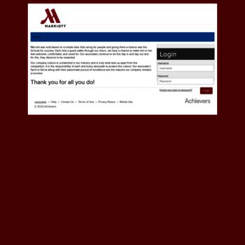 marriott achievers com at WI  Marriott Spirit Rewards - Login