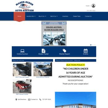 Masondixonautoauction Com At Wi Mason Dixon Auto Auction Public