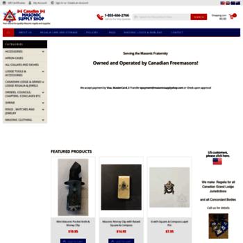 cb91fc7bd4 masonicsupply.ca at WI. Canadian Masonic Supply Shop  Masonic Aprons ...