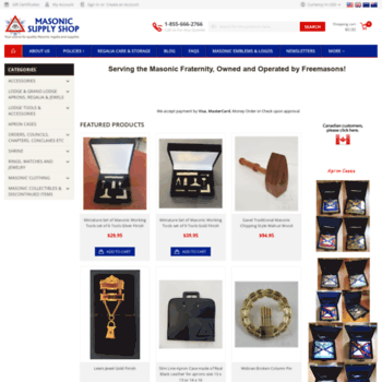 35f9221d3a masonicsupplyshop.com at WI. Masonic Supply Shop  Masonic Aprons ...