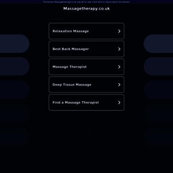 Massagetherapy.co.uk thumbnail