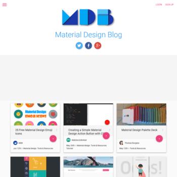 Materialdesignblog.com thumbnail