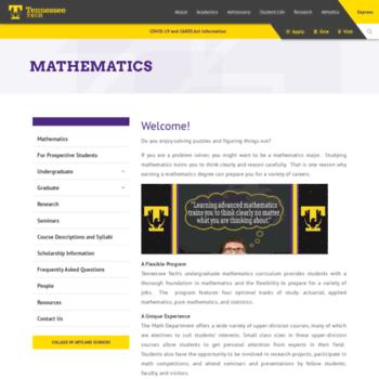 Math.tntech.edu thumbnail