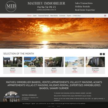 Mathieu-immobilier.com thumbnail