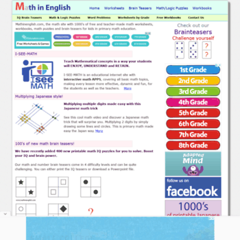 Mathinenglish.com thumbnail