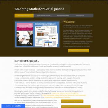 Maths-socialjustice.weebly.com thumbnail