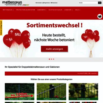 Mattenzaun Online De At Wi Doppelstabmattenzaun Und Gabionen Online