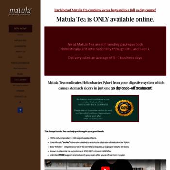 Matulatea Com At Wi Buy Matula Tea Remove H Pylori Bacteria