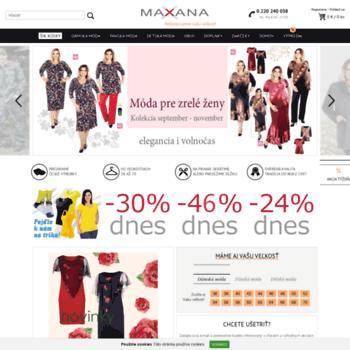 maxana.pl at WI. Maxana  zásielkový obchod s oblečením aj v ... ed0f4e4af9