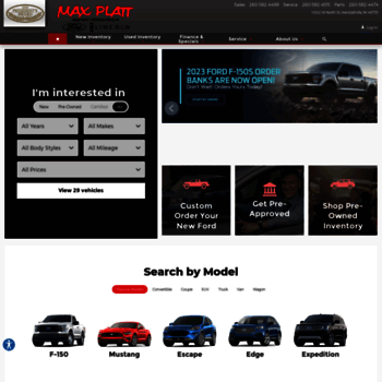 maxplattford com at WI  Max Platt Ford-Lincoln Inc  | Ford