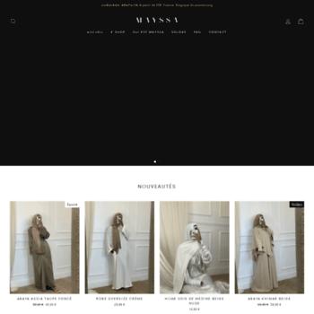 Mayssa Boutique mayssa.fr at wi. mayssa : boutique de mode, prêt à porter islamique